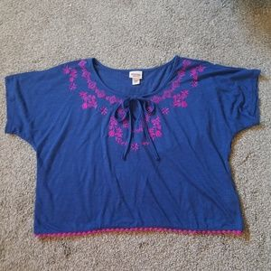 NWOT Embroidered Boho Hippie Crop Top from Target